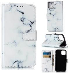 Soft White Marble PU Leather Wallet Case for iPhone 11 Pro (5.8 inch)