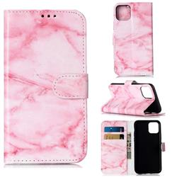 Pink Marble PU Leather Wallet Case for iPhone 11 Pro (5.8 inch)