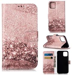 Glittering Rose Gold PU Leather Wallet Case for iPhone 11 Pro (5.8 inch)