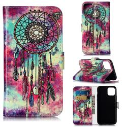 Butterfly Chimes PU Leather Wallet Case for iPhone 11 Pro (5.8 inch)