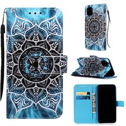 Underwater Mandala Matte Leather Wallet Phone Case for iPhone 11 Pro (5.8 inch)
