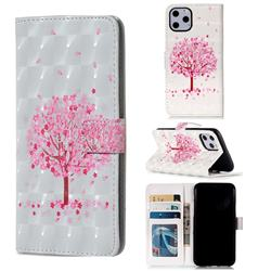 Sakura Flower Tree 3D Painted Leather Phone Wallet Case for iPhone 11 Pro (5.8 inch)