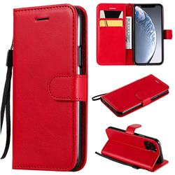 Retro Greek Classic Smooth PU Leather Wallet Phone Case for iPhone 11 Pro (5.8 inch) - Red
