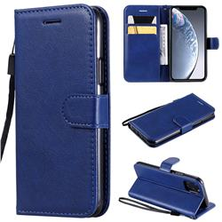 Retro Greek Classic Smooth PU Leather Wallet Phone Case for iPhone 11 Pro (5.8 inch) - Blue