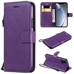 Retro Greek Classic Smooth PU Leather Wallet Phone Case for iPhone 11 Pro (5.8 inch) - Purple