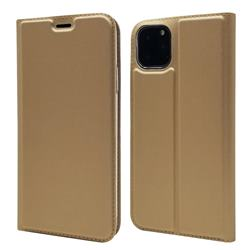 Ultra Slim Card Magnetic Automatic Suction Leather Wallet Case for iPhone 11 Pro (5.8 inch) - Champagne