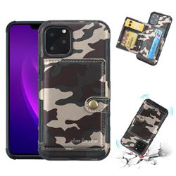 Camouflage Multi-function Leather Phone Case for iPhone 11 Pro (5.8 inch) - Purple