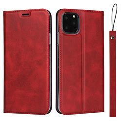 Calf Pattern Magnetic Automatic Suction Leather Wallet Case for iPhone 11 Pro (5.8 inch) - Red