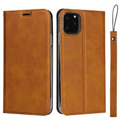 Calf Pattern Magnetic Automatic Suction Leather Wallet Case for iPhone 11 Pro (5.8 inch) - Brown