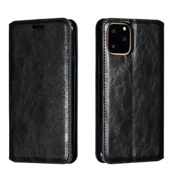 Retro Slim Magnetic Crazy Horse PU Leather Wallet Case for iPhone 11 Pro (5.8 inch) - Black
