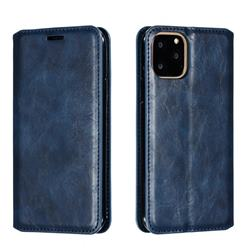 Retro Slim Magnetic Crazy Horse PU Leather Wallet Case for iPhone 11 Pro (5.8 inch) - Blue