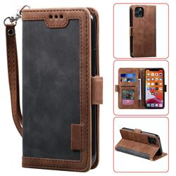 Luxury Retro Stitching Leather Wallet Phone Case for iPhone 11 Pro (5.8 inch) - Gray