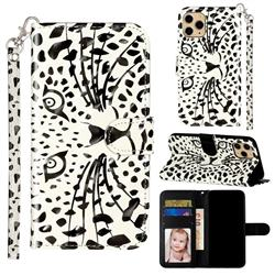 Leopard Panther 3D Leather Phone Holster Wallet Case for iPhone 11 Pro (5.8 inch)