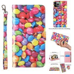 Colorful Jelly Beans 3D Painted Leather Wallet Case for iPhone 11 Pro (5.8 inch)