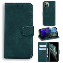 Retro Classic Skin Feel Leather Wallet Phone Case for iPhone 11 Pro (5.8 inch) - Green