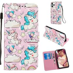 Angel Pony 3D Painted Leather Wallet Case for iPhone 11 Pro (5.8 inch)