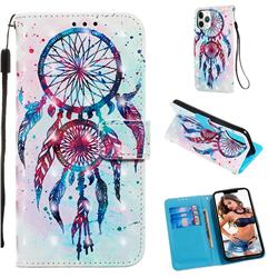 ColorDrops Wind Chimes 3D Painted Leather Wallet Case for iPhone 11 Pro (5.8 inch)