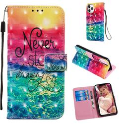 Colorful Dream Catcher 3D Painted Leather Wallet Case for iPhone 11 Pro (5.8 inch)