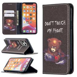 Chainsaw Bear Slim Magnetic Attraction Wallet Flip Cover for iPhone 11 Pro (5.8 inch)
