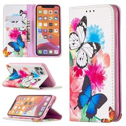 Flying Butterflies Slim Magnetic Attraction Wallet Flip Cover for iPhone 11 Pro (5.8 inch)