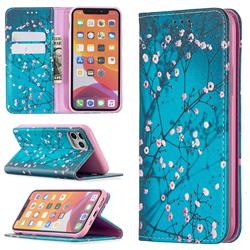 Plum Blossom Slim Magnetic Attraction Wallet Flip Cover for iPhone 11 Pro (5.8 inch)