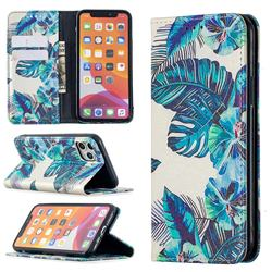 Blue Leaf Slim Magnetic Attraction Wallet Flip Cover for iPhone 11 Pro (5.8 inch)