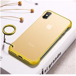 Transparent Matte Non-Slip Anti-Scratch no Fingerprint Bare Metal Sense Case for iPhone XS Max (6.5 inch) - Yellow