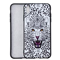 Snow Leopard 3D Embossed Relief Black Soft Back Cover for iPhone XS Max (6.5 inch)