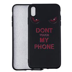 Red Eyes 3D Embossed Relief Black Soft Back Cover for iPhone XS Max (6.5 inch)