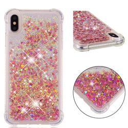 Dynamic Liquid Glitter Sand Quicksand TPU Case for iPhone XS Max (6.5 inch) - Rose Gold Love Heart