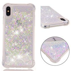 Dynamic Liquid Glitter Sand Quicksand Star TPU Case for iPhone XS Max (6.5 inch) - Pink