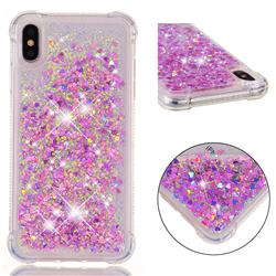 Dynamic Liquid Glitter Sand Quicksand Star TPU Case for iPhone XS Max (6.5 inch) - Rose