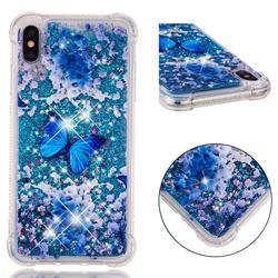 Flower Butterfly Dynamic Liquid Glitter Sand Quicksand Star TPU Case for iPhone XS Max (6.5 inch)