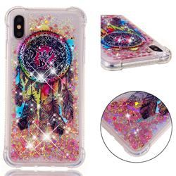 Seal Wind Chimes Dynamic Liquid Glitter Sand Quicksand Star TPU Case for iPhone XS Max (6.5 inch)