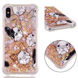Bulldog Dynamic Liquid Glitter Sand Quicksand Star TPU Case for iPhone XS Max (6.5 inch)