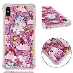 Angel Pony Dynamic Liquid Glitter Sand Quicksand Star TPU Case for iPhone XS Max (6.5 inch)