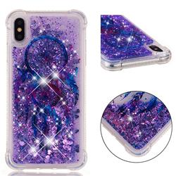 Retro Wind Chimes Dynamic Liquid Glitter Sand Quicksand Star TPU Case for iPhone XS Max (6.5 inch)