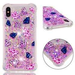 Diamond Dynamic Liquid Glitter Sand Quicksand Star TPU Case for iPhone XS Max (6.5 inch)