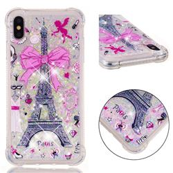 Mirror and Tower Dynamic Liquid Glitter Sand Quicksand Star TPU Case for iPhone XS Max (6.5 inch)