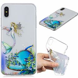 Mermaid Clear Varnish Soft Phone Back Cover for iPhone XS Max (6.5 inch)