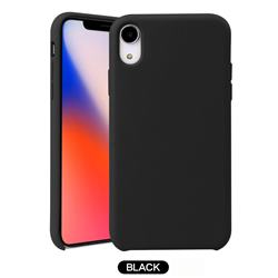 Howmak Slim Liquid Silicone Rubber Shockproof Phone Case Cover for iPhone XS Max (6.5 inch) - Black
