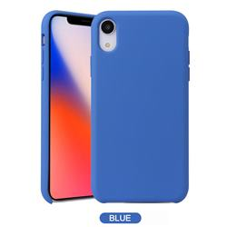 Howmak Slim Liquid Silicone Rubber Shockproof Phone Case Cover for iPhone XS Max (6.5 inch) - Sky Blue