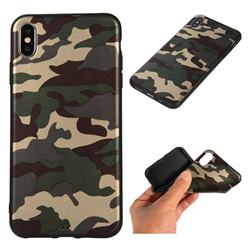 Camouflage Soft TPU Back Cover for iPhone XS Max (6.5 inch) - Gold Green