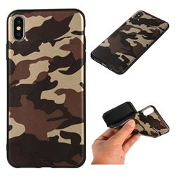 Camouflage Soft TPU Back Cover for iPhone XS Max (6.5 inch) - Gold Coffee
