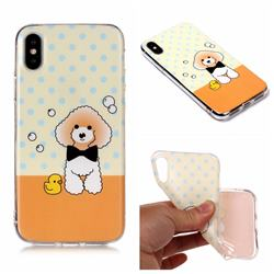 Cute Puppy Matte Soft TPU Back Cover for iPhone XS Max (6.5 inch)