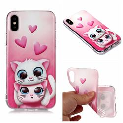 Love Cat Matte Soft TPU Back Cover for iPhone XS Max (6.5 inch)