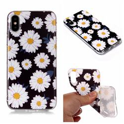 White Chrysanthemum Matte Soft TPU Back Cover for iPhone XS Max (6.5 inch)