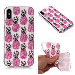 Rose Pineapple Matte Soft TPU Back Cover for iPhone XS Max (6.5 inch)