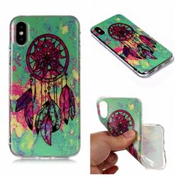 Green Wind Chime Matte Soft TPU Back Cover for iPhone XS Max (6.5 inch)