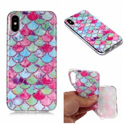 Colored Ripples Matte Soft TPU Back Cover for iPhone XS Max (6.5 inch)
